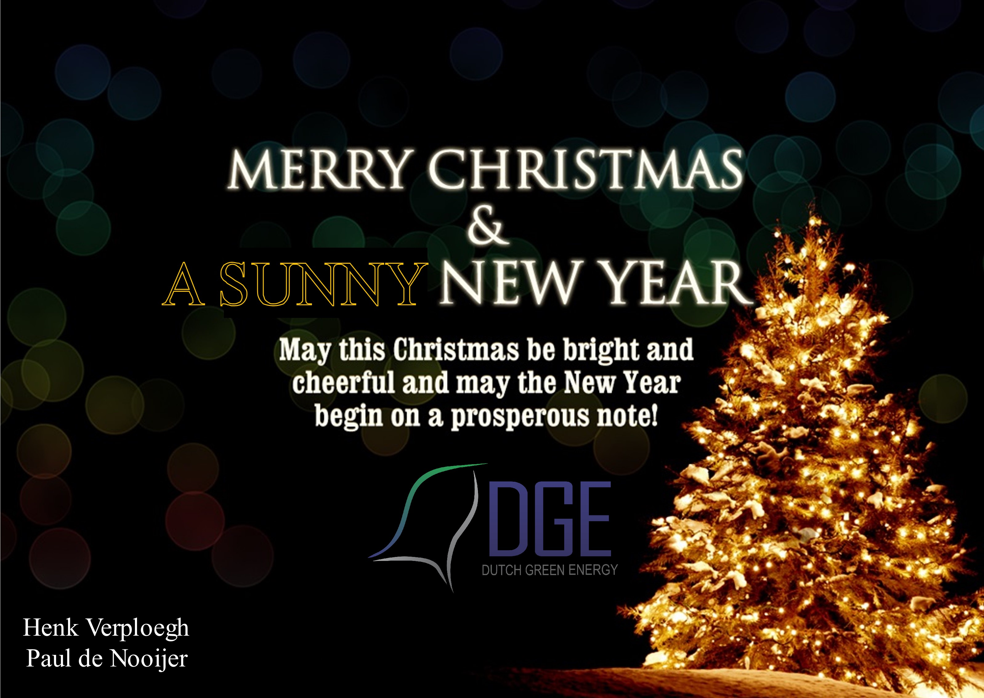 Merry Christmas In Dutch.Merry Christmas And Happy New Year Dge